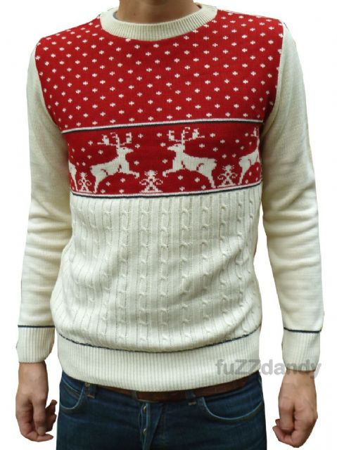 Reindeer - Christmas Fair-isle Jumper (red)